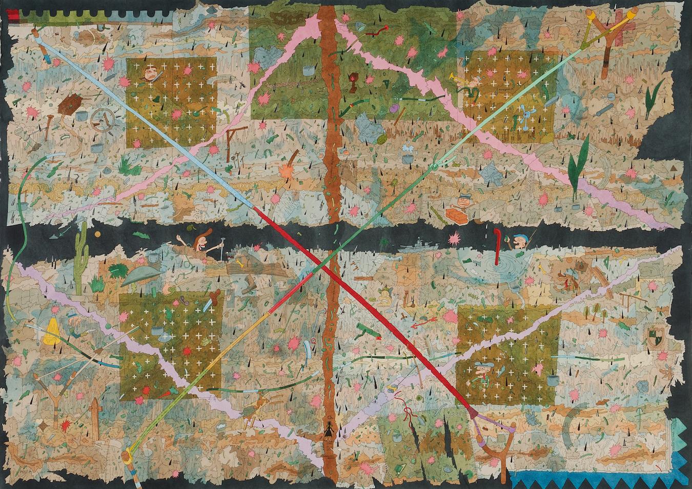 CS066601Com as fardas em farrapos, 1979-80, aguarela sobre papel, 75,5 x 105,5 cm.jpg